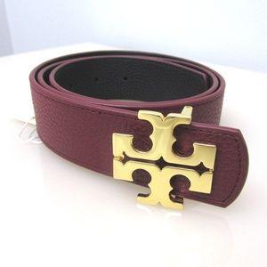 Reversible Belt 1 1/2'' Leather Black Burgundy